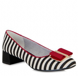 Ruby Shoo June (Black/Red) Shoes